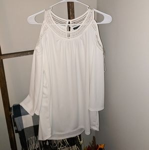 Tommy Hilfiger White Open Shoulder Blouse